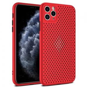 Dėklas Breath Case Apple iPhone X / XS raudonas