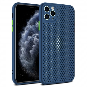 Dėklas Breath Case Samsung A515 A51 tamsiai mėlynas