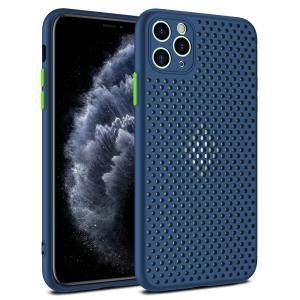 Dėklas Breath Case Redmi Note 9S / Note 9 Pro tamsiai mėlynas