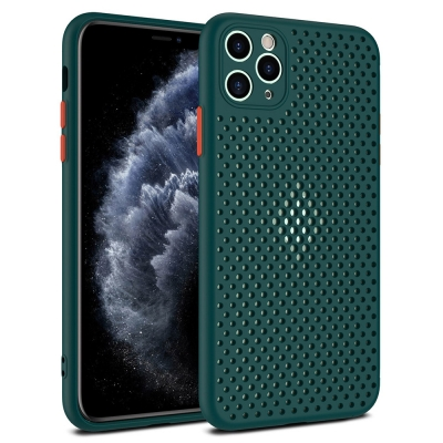 Dėklas Breath Case Xiaomi Redmi Note 9S / Note 9 Pro žalias