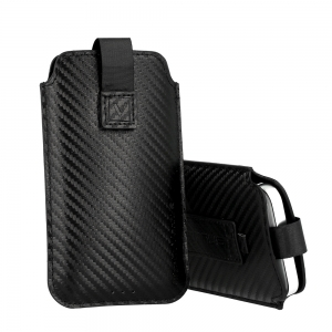 Dėklas Vennus Carbon Samsung A31 / A51 / M21 / S10 Plus Apple iPhone XS Max / 11 Pro Max Huawei P40 Pro / P40 Lite / Y6p size 17 juodas
