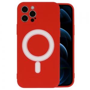 Dėklas MagSilicone Apple iPhone 12 raudonas