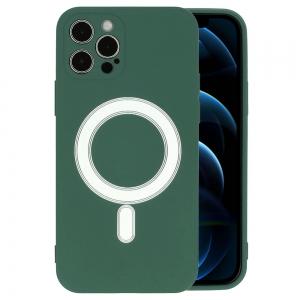 Dėklas MagSilicone Apple iPhone 12 mini tamsiai žalias