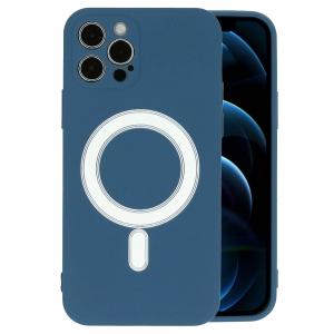 Dėklas MagSilicone Apple iPhone 12 mini tamsiai mėlynas