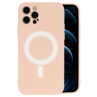 Dėklas MagSilicone Apple iPhone 12 Pro smėlio spalvos