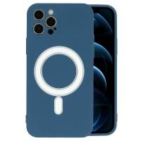 Dėklas MagSilicone Apple iPhone 12 Pro tamsiai mėlynas
