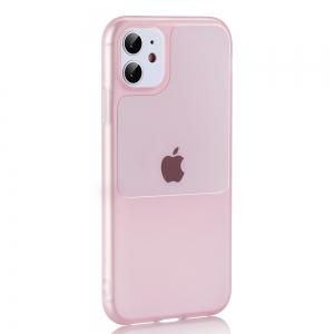 Dėklas Window Case Apple iPhone 12 Pro Max rožinis