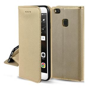 Dėklas Smart Magnet Xiaomi Redmi Note 10 / Redmi Note 10S auksinis