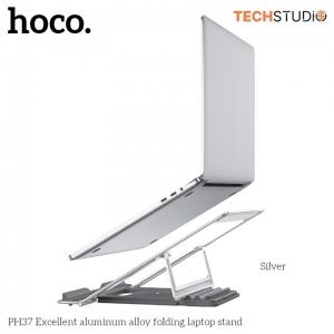 Universalus nešiojamojo kompiuterio laikiklis Hoco PH37 Excellent aluminum alloy sulenkiamas sidabrinis