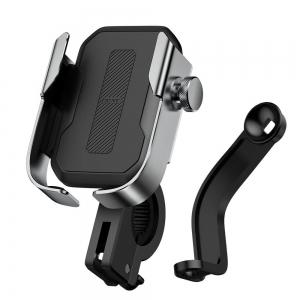 Telefono laikiklis motociklui Baseus Armor sidabrinis SUKJA-0S