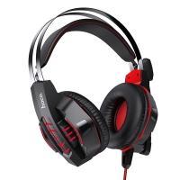 Ausinės Hoco W102 Cool Tour Gaming raudonos