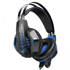 Ausinės Hoco W102 Cool Tour Gaming mėlynos