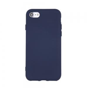 Dėklas Rubber TPU Samsung S21 FE tamsiai mėlynas