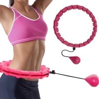 Masažuojantis gimnastikos lankas Smart Hula Hoop HHP002 rožinis