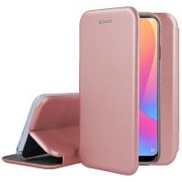 Dėklas Book Elegance Huawei P10 Lite rožinis-auksinis