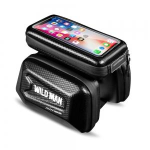 Universalus telefono laikiklis WILDMAN E6S 1,2L 4 - 7  dviračiui su užtrauktuku juodas