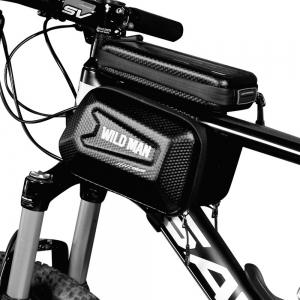 Universalus telefono laikiklis WILDMAN E6S 1L 4 - 7  dviračiui su užtrauktuku juodas