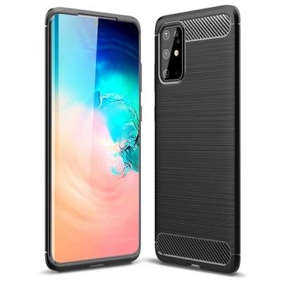 Dėklas Carbon Lux Samsung S21 FE juodas