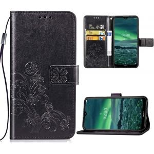 Dėklas Flower Book Samsung A025 A02s juodas