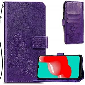 Dėklas Flower Book Samsung A226 A22 5G violetinis