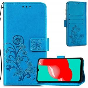 Dėklas Flower Book Samsung A525 A52 / A526 A52 5G / A528 A52s 5G mėlynas