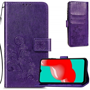 Dėklas Flower Book Samsung A525 A52 / A526 A52 5G / A528 A52s 5G violetinis