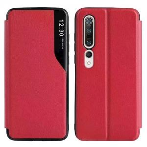 Dėklas Smart View TPU Xiaomi Redmi Note 10 Pro / Note 10 Pro Max raudonas