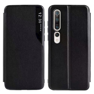 Dėklas Smart View TPU Xiaomi Redmi Note 10 / Redmi Note 10S juodas