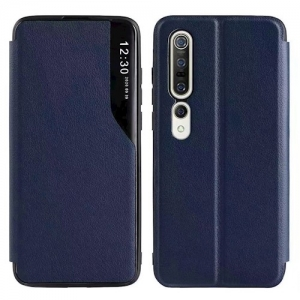 Dėklas Smart View TPU Xiaomi Redmi Note 10 / Redmi Note 10S tamsiai mėlynas