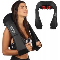 Kaklo ir pečių Shiatsu masažuoklis su šildymo funkcija F718B juodas