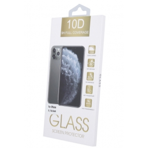 LCD apsauginis stikliukas 10D Full Glue Samsung S21 FE lenktas juodas