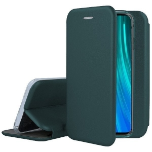 Dėklas Rubber TPU Xiaomi Redmi Note 10 4G / Note 10s tamsiai žalias