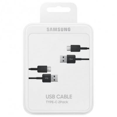 USB kabelis originalus Samsung EP-DG930 Type-C 1.5m 2vnt. pakuotėje juodas