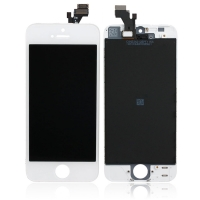 Ekranas iPhone 5 su lietimui jautriu stikliuku baltas HQ