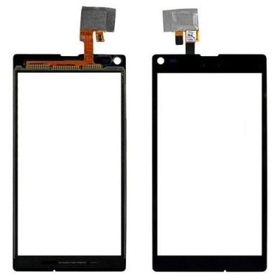 Lietimui jautrus stikliukas Sony S36h / C2105 / C2104 Xperia L juodas HQ