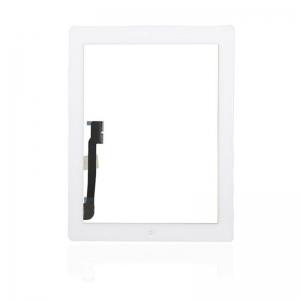 Lietimui jautrus stikliukas iPad 4 baltas su home mygtuku ir laikikliais HQ