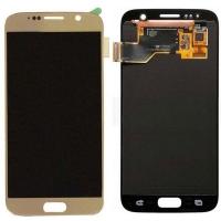 Ekranas Samsung G930F S7 su lietimui jautriu stikliuku auksinis originalus (service pack)