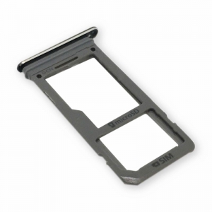 SIM kortelės laikiklis Samsung G950 / G955 S8 / S8+ juodas ORG