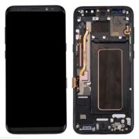 Ekranas Samsung G950F S8 su lietimui jautriu stikliuku juodas originalus (service pack)