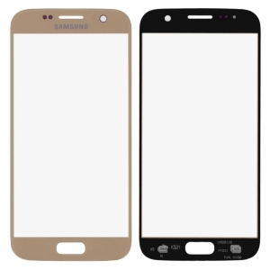 LCD stikliukas Samsung G930F S7 auksinis ORG