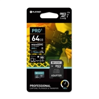 Atminties korta Platinet MicroSD 64GB (class10 UHS-I 70MB / S) + SD Adapteris
