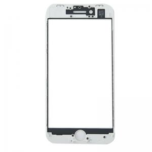 LCD stikliukas Apple iPhone 8 Plus su rėmeliu baltas ORG