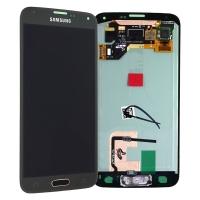 Ekranas Samsung G900F S5 su lietimui jautriu stikliuku juodas (TFT version) HQ
