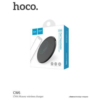 Belaidis įkroviklis HOCO CW6 Homey (palaiko QI standartą) juodas