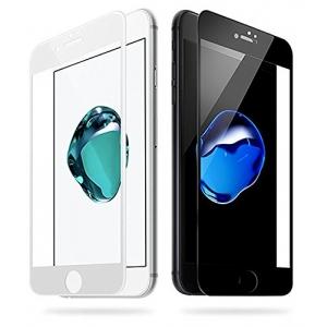 LCD apsauginis stikliukas  5D Full Glue  Apple iPhone 7 / 8 lenktas juodas be įpakavimo