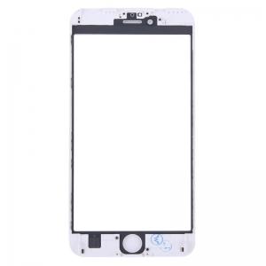 LCD stikliukas Apple iPhone 6S Plus su rėmeliu ir OCA baltas ORG (v2)