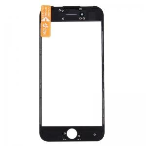 LCD stikliukas Apple iPhone 7 su rėmeliu ir OCA juodas ORG (v2)