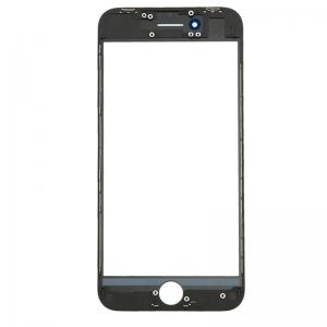 LCD stikliukas Apple iPhone 8 / SE2 su rėmeliu ir OCA juodas ORG (v2)