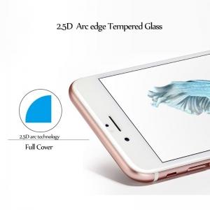 LCD apsauginis stikliukas  2.5D Full Glue  Apple iPhone 7 / 8 baltas be įpakavimo