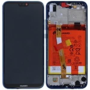 Ekranas Huawei P8 Lite 2017 / P9 Lite 2017 / Honor 8 Lite su lietimui jautriu stikliuku su rėmeliu ir baterija juodas originalus (service pack)